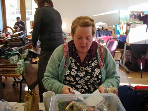 Helen - HBWI & owner of Ribbon Circus - on her yarn stall