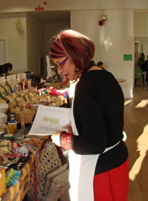 The Queen of the Rag Market - our wonderful organiser, Vanessa.