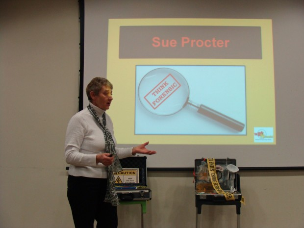 Sue Proctor explaining her background